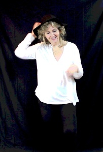 debby dancing in black hat