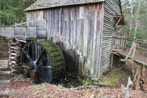 Grist Mill using an Overshot Wheel