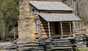 John and Lucretia Oliver's Cabin built in the 1820's